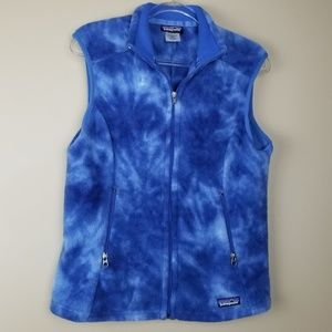 Patagonia Synchilla Watercolor Blue Fleece Vest, L